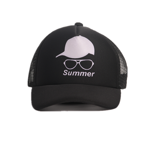 black summer baseball cap