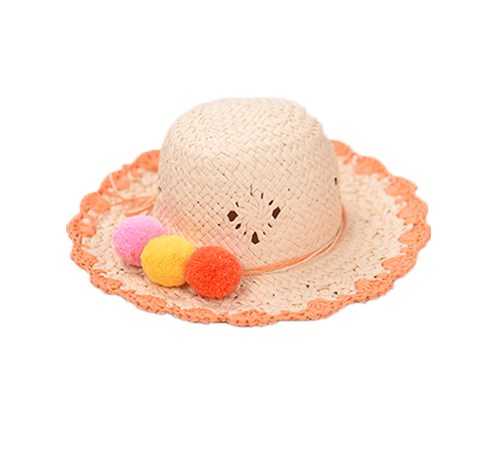 kids cute handmade paper straw hat