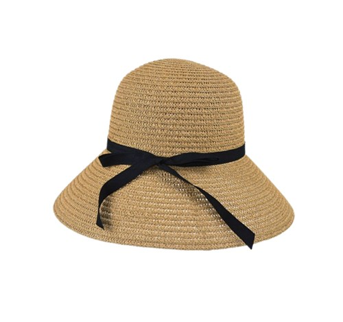 paper braid bucket hat